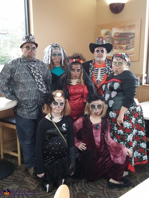 Sugar Skull Family Costume