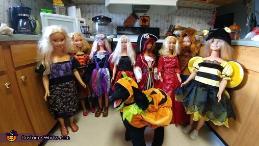 Barbies and stuff poodle ready 4 halloween, Sugar Skull Family Costume
