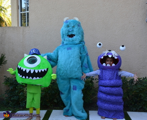 Homemade monsters inc Group, Homemade Sully Costume