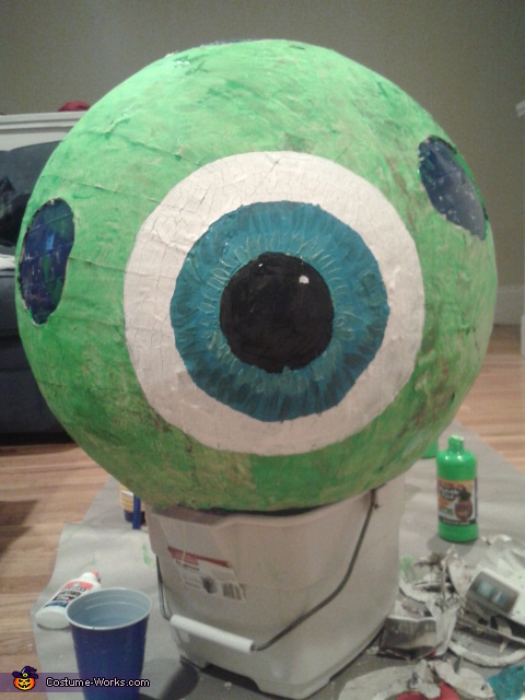 Painting Mike, Sully & Mike Wazowski Costumes