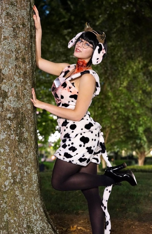 Sultry Slaughtered Cow Costume