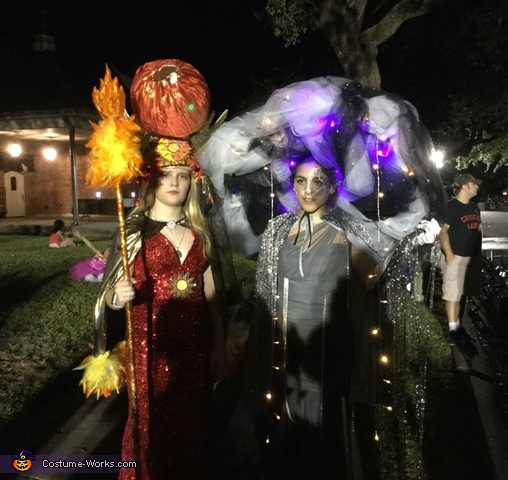 Sun Goddess and Storm Goddess Homemade Costume