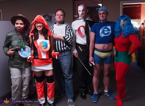 Super Engines Web Browsers Group Costume