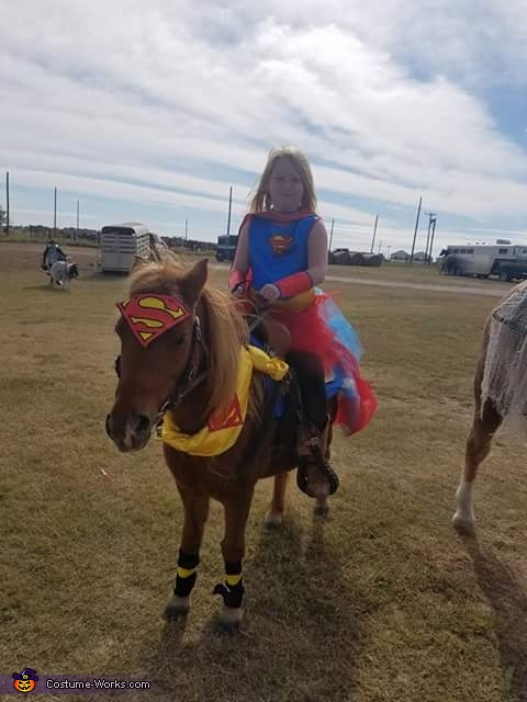 Super Girl and Super Pony Homemade Costume