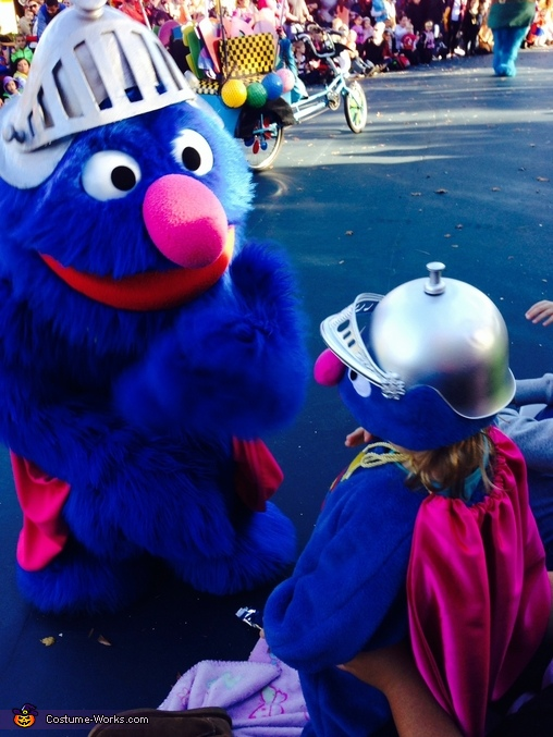 My Super Grover meeting the real thing, Super Grover Baby Costume