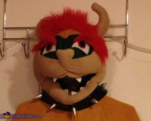 Finished Bowser Head, Super Mario Bowser Costume