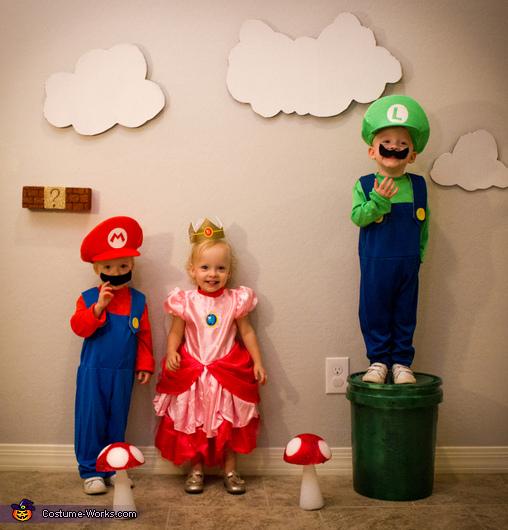 Super Mario Triplets Kids Costume Creative Diy Costumes
