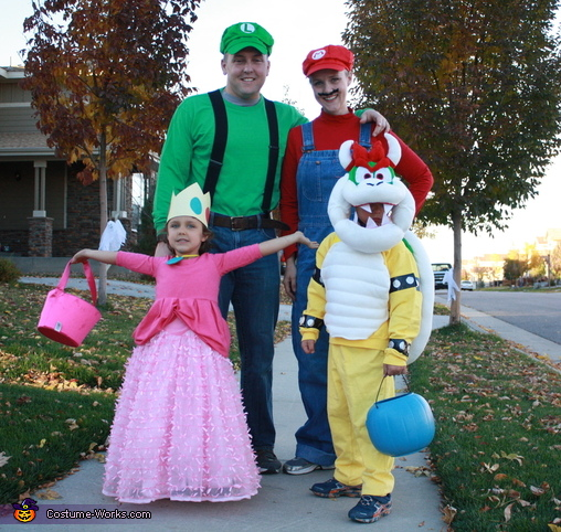 Mario, Luigi, Peach, and Bowser, Super Mario World Bowser Costume
