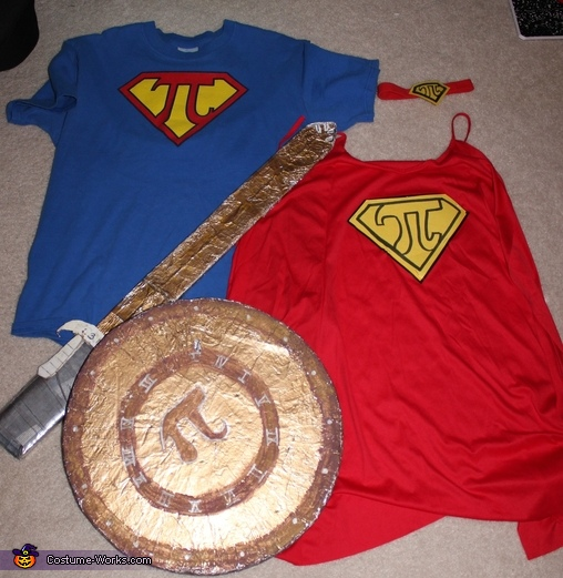 Pi Costume Accessories, Super Pi Woman Costume