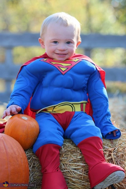 Superman looking cool, Superman Baby Costume