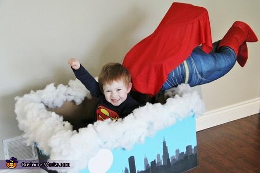 Superman flying, Superman Wheelchair Costume