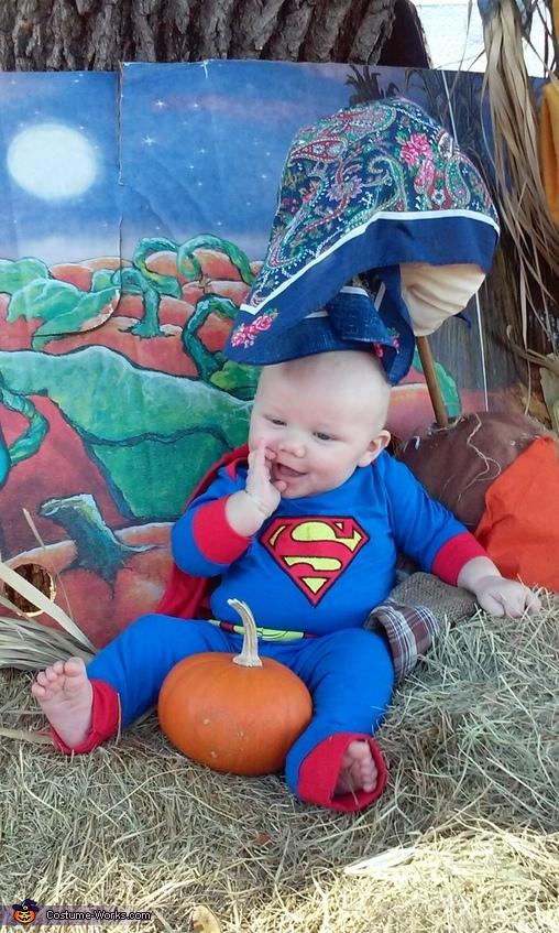 these fingers sure taste good , Superman Baby Halloween Costume