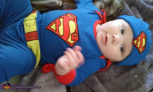 you will fall in love when you meet me , Superman Baby Halloween Costume