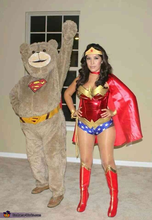 SuperTed and Wonder Woman Costume