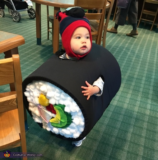Sushi Roll with Kikkoman Soy Sauce Homemade Costume