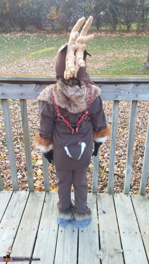 back, Sven, Reindeer from Frozen Costume