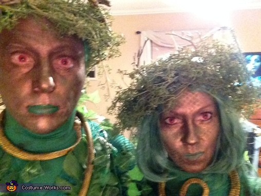 Barry and Bonnie close-up, Swamp Creatures Couples Costume
