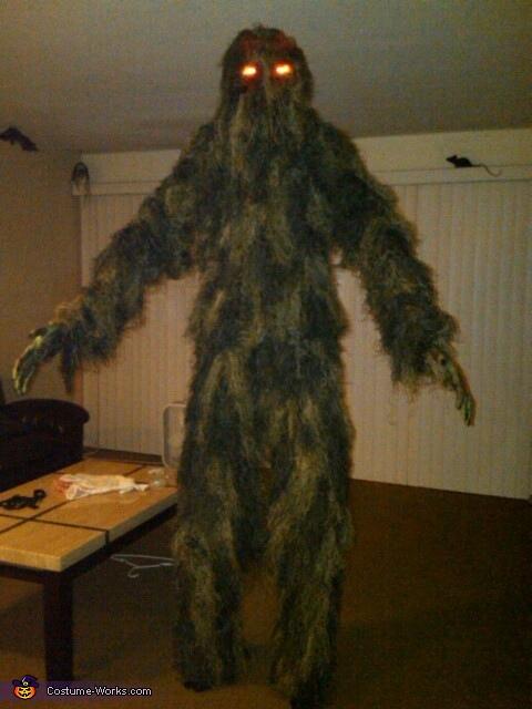 Swamp Monster Homemade Costume