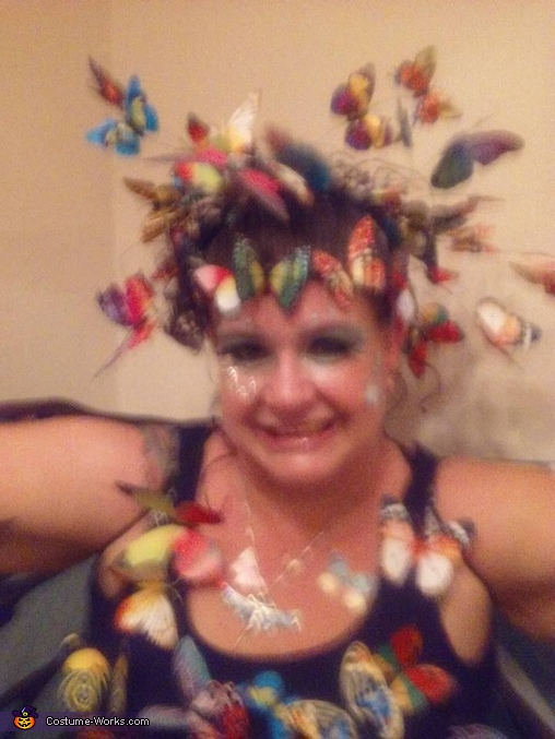 close up of makeup, Swarm of Butterflies Costume