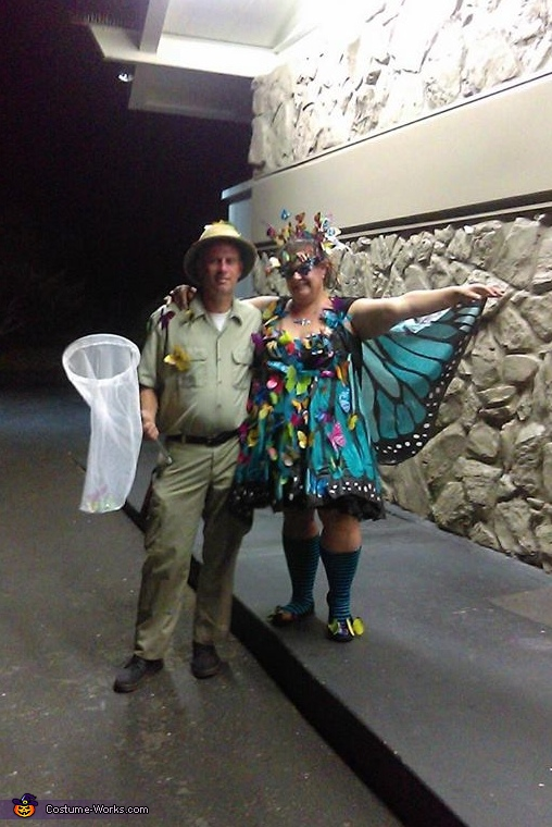 using my boyfriend as a costume accessory, Swarm of Butterflies Costume