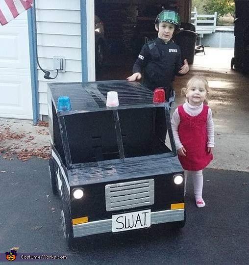 Swat Man and Truck Homemade Costume