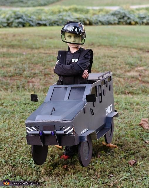 SWAT Truck Homemade Costume