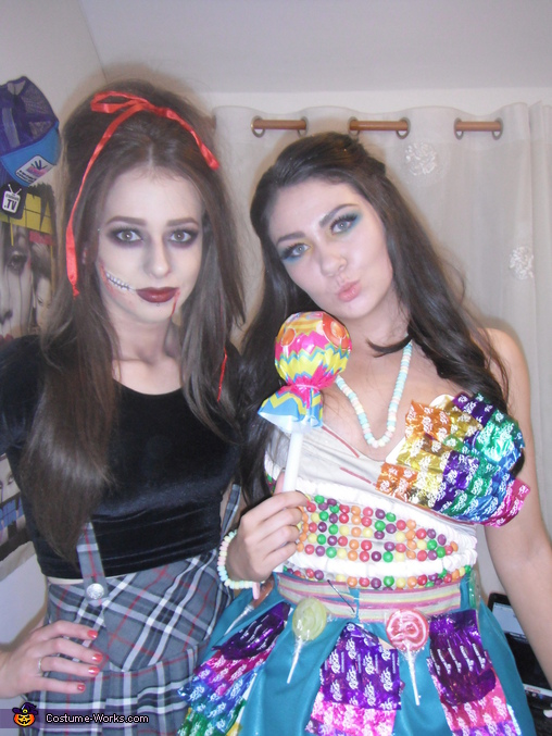 Me on the right, Sweet Thang Costume