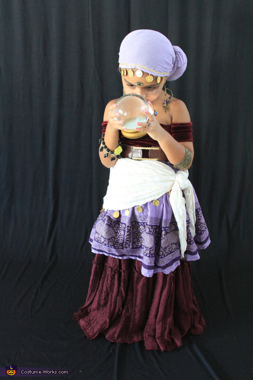 Fortune Teller Girl's Homemade Costume