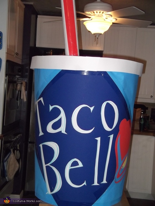 Homemade Taco Bell Cup Costume
