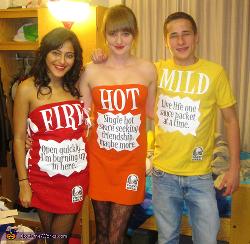 Taco Bell Sauces Groups Costume