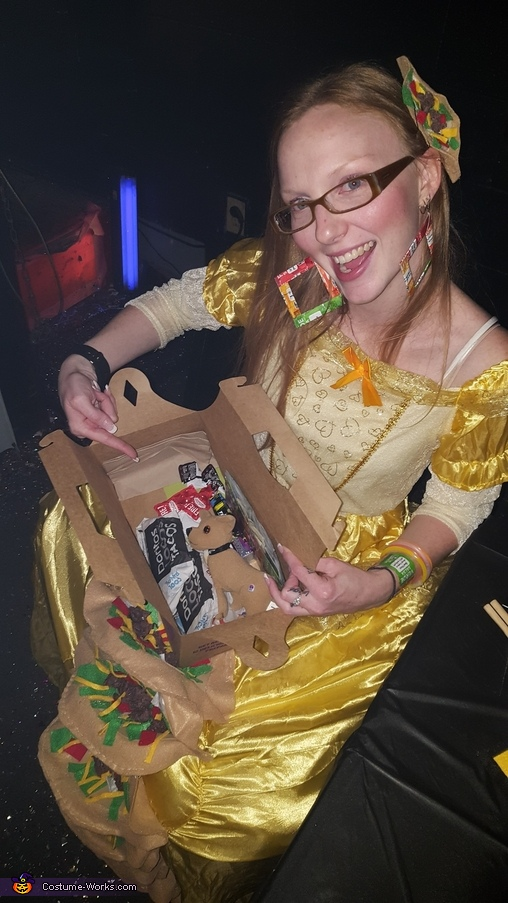 Belle with 12 pack Box purse, Taco Belle Costume
