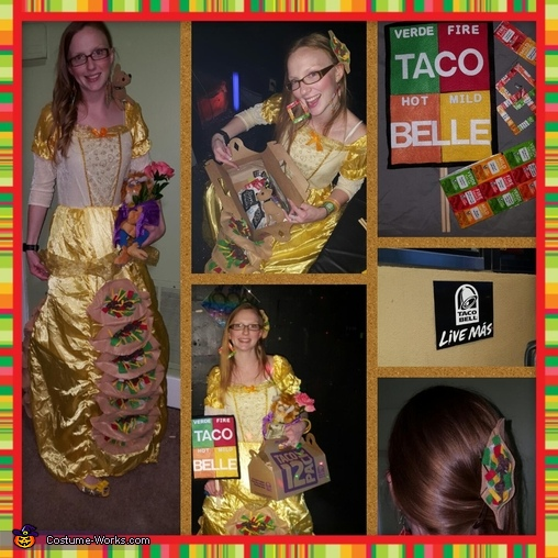 Taco Belle photo collage, Taco Belle Costume