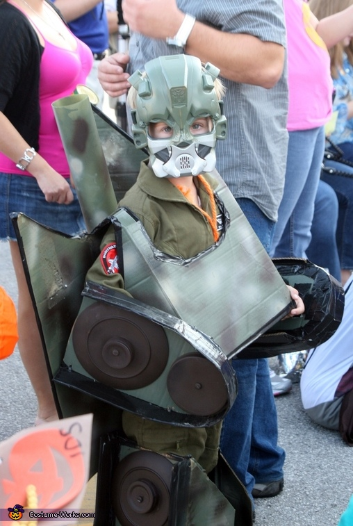 Transformer costume tank, Home Made Tank Transformer costume