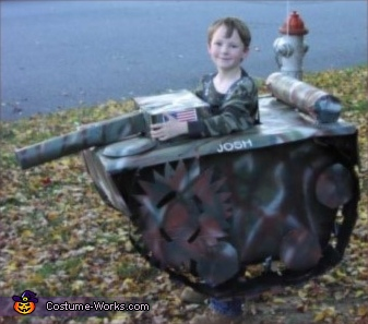 Soldier in a Tank Costume