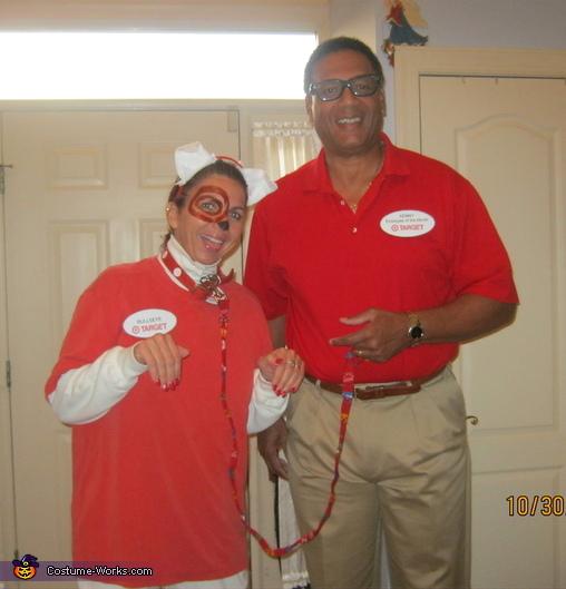 Target Employee & Bullseye Target Mascot Costume