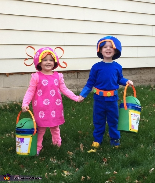 Milli and Geo with Bot buckets, Team Umizoomi Costume