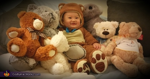 Fitting in with Bear Buddies, Teddy Bear Baby Costume