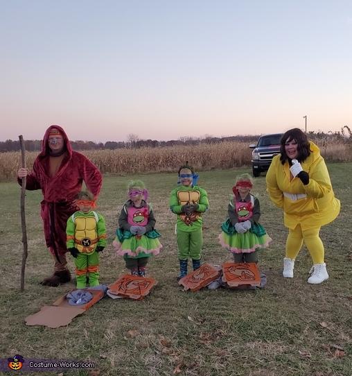 Teenage Mutant Ninja Family Costume