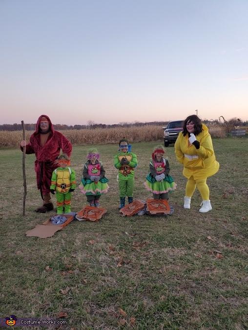 Teenage Mutant Ninja Family Homemade Costume