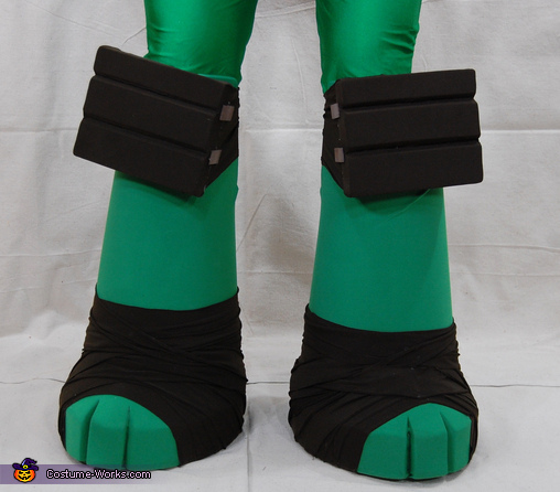 Leg Close Up, Teenage Mutant Ninja Turtle Michelangelo Costume