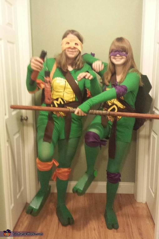 Ninja poses, Donatello and Michelangelo Costume