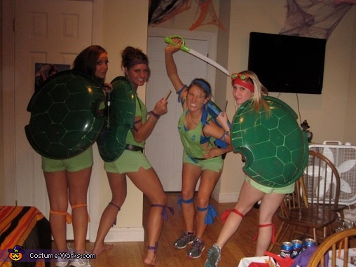 Teenage Mutant Ninja Turtles Girls Homemade Costume