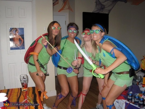 Teenage Mutant Ninja Turtles Girls Homemade Costume