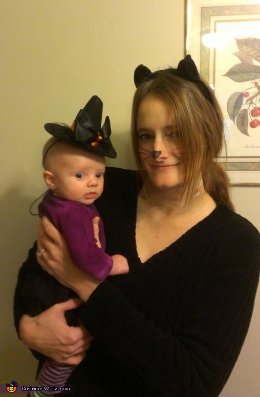 Every witch needs her black cat, Teeny Tiny Witch Costume