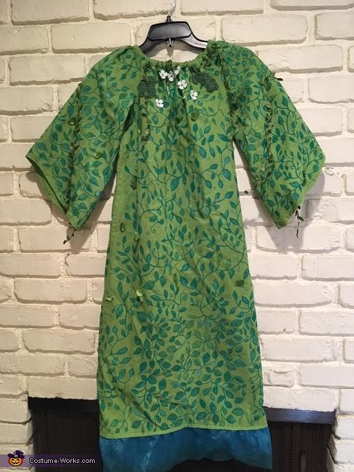 Close up of dress, TeFiti from Moana Costume