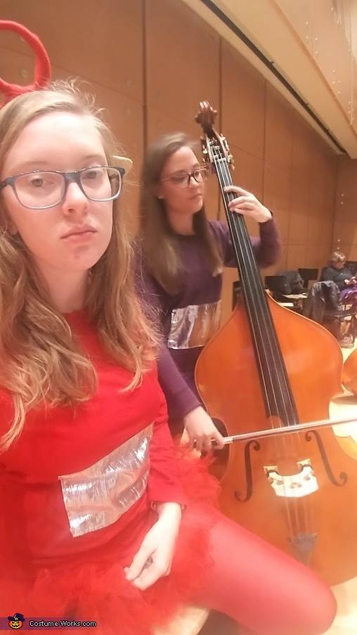 We had an orchestra and choir rehearsal on Halloween, but we still dressed up., Teletubbies and the Baby Sun Costume