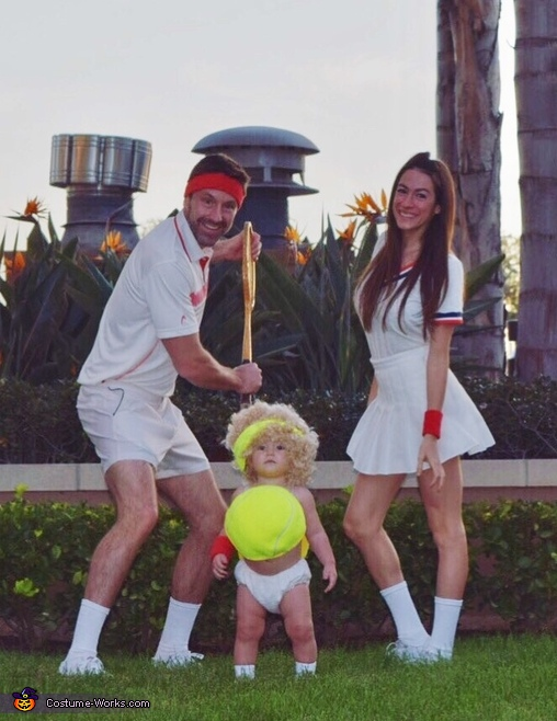 Tennis Players and Ball Costume