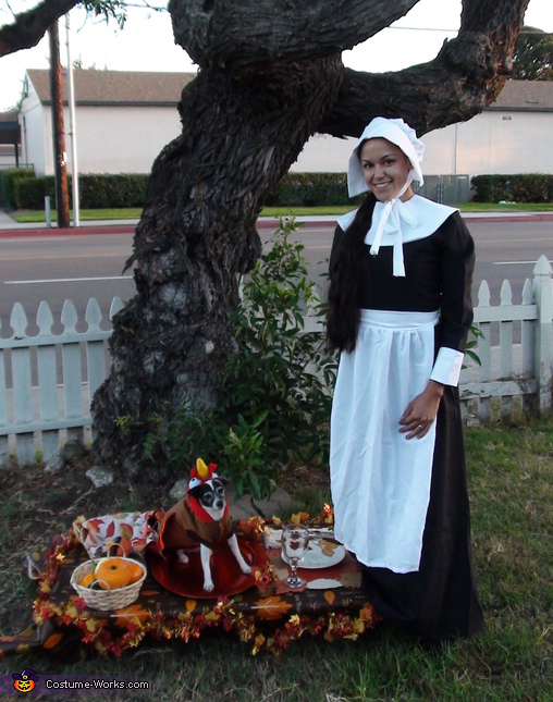 Thanksgiving Turkey and The Hungry Pilgrim Homemade Costume