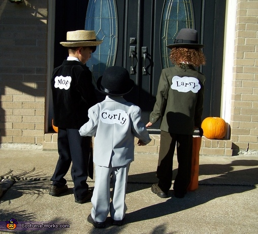 Moe, Curly and Larry. Stooges - Homemade costumes for boys