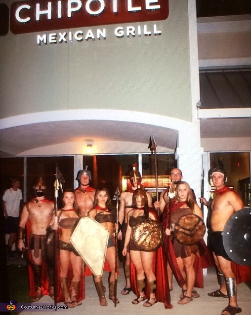 The 300 Spartans Group Costume